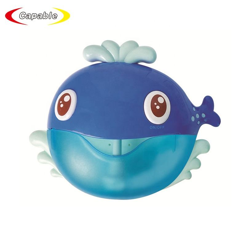 CE Certificate Baby Shower Bathtub Battery Operated Bath Whale Bubble Maker Bath Toy