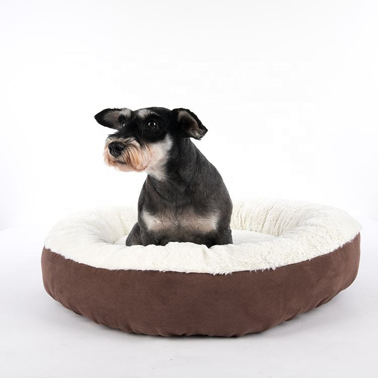 Precision Chocolate Brown Small Pet Bed Self Warming Soft Durable Cat Dog Bed