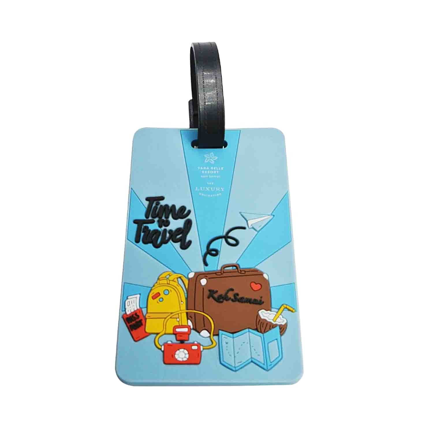 With your own logo luggage tag for suitcase no minimum order