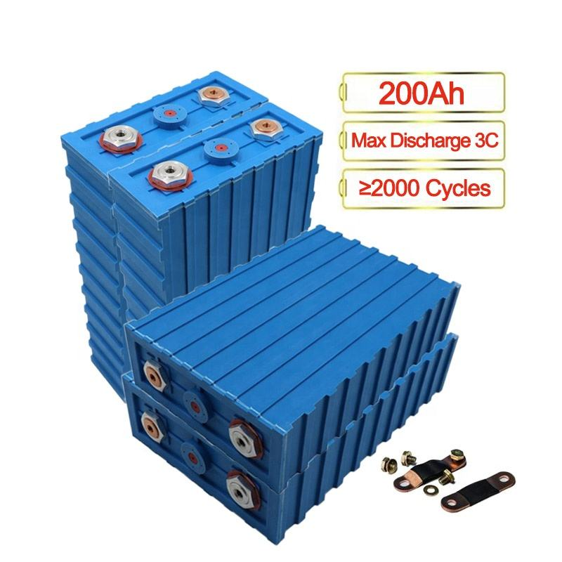 Free Shipping 8pcs/pack Lithium Battery 200Ah 3.2V Lifepo4 DIY 12V 24V 48V