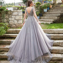 Gray Stoned Sexy Sequin Prom, Dinner, Hot Night Evening Dresses Luxurious For Woman