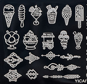 Latest Style Wholesales Nail Art Stamping Plates High Quality Nail Stamper Plate YICAI 39-55