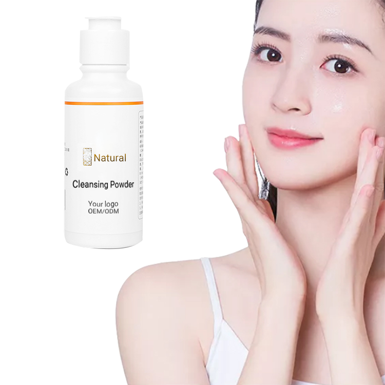 Custom Logo Soft Skin Cleansing Foaming Blackhead Facial Pores Deep Cleaning Gentle Exfoliating Unisex Eco Cleansing Powder