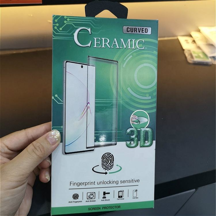 9H Ceramics Flexible Tempered Glass for Samsung Galaxy S8 S10 Note 10 Unique Design Screen Protector