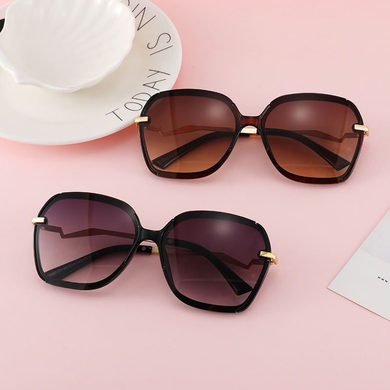 Wholesale Authentic Fancy Style Gold Metal Frame Sun Shades Sunglasses with Custom Printed