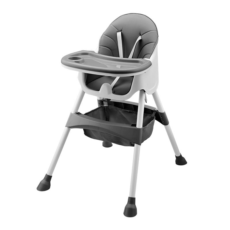 Color customizable baby high chair with storage function kids feeding chair