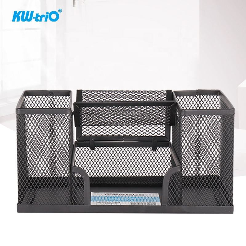 Factory Direct Sale 4 Compartments High Quality and Best Price Mesh Desk Organizer