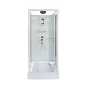 2016 wholesale tempered glass portable shower room luxury shower cabin steam shower cabin
