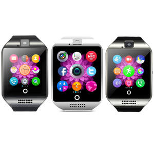 Cheap NFC Smartwatch BT Touch Screen Q18 Smart Watch Waterproof Music Player Call Dial Mobile Phone Watch Q18