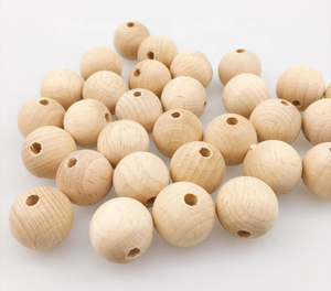 high quality 25mm maple beech round wood beads