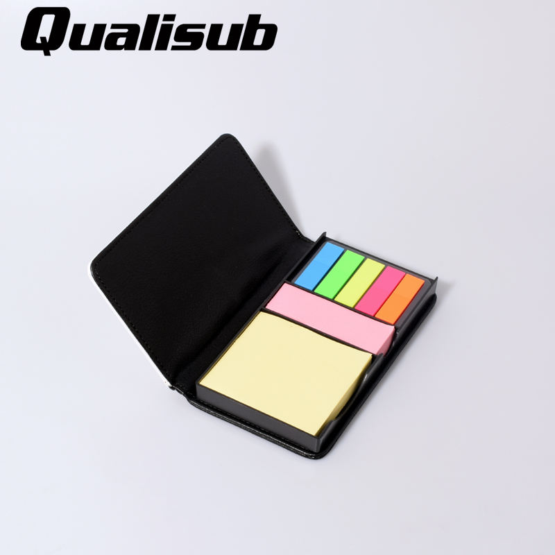 Qualisub Sublimation Collant Notes PU Matériel Bloc-Notes