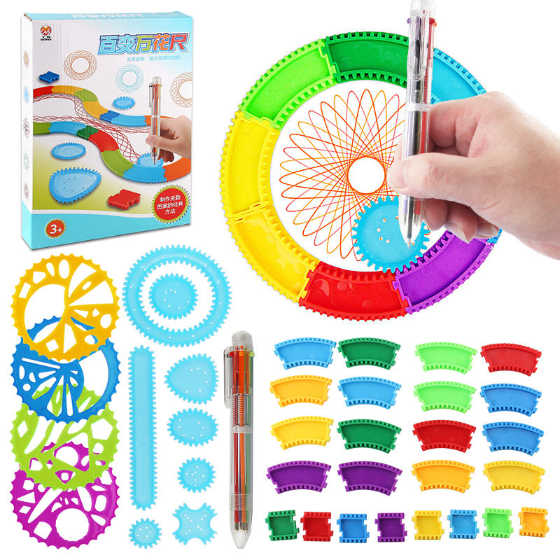 Creative Drawing Pen DIY Spirograph Magic Ruler Toys