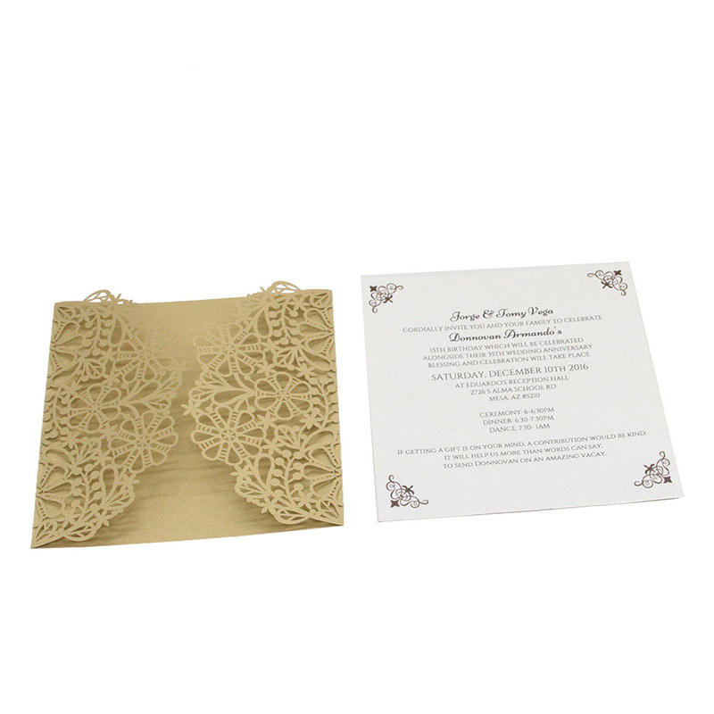 Ivory lace wedding invitations for souvenir innovative