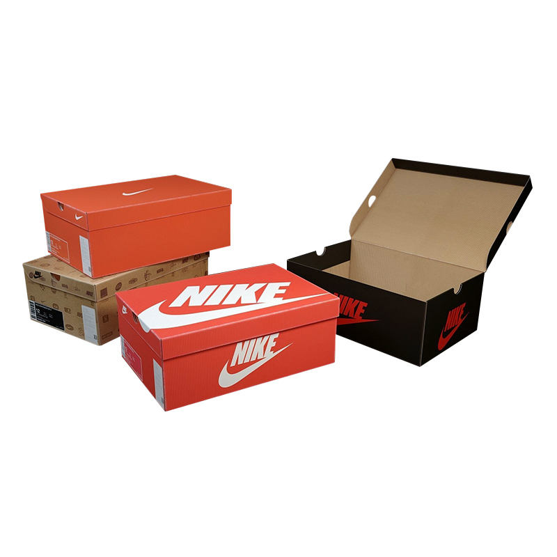 Customized Made Color Printed Corrugated Cardboard Shoe Packaging Paper Box with logo