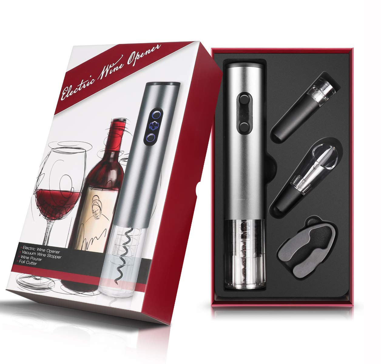 Best selling products 2018 in usa amazon electric corkscrew wine opener electronic wine bottle gift set for electric gadgets
