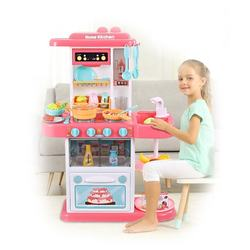 Children Education Pretend Play 72CM stylish kitchen Toys cooking toys with lighting, music,water function