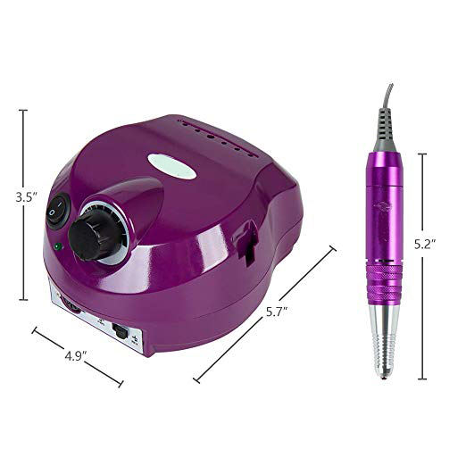 30000RPM Electric Acrylic Nail Drill Manicure Pedicure Kit Pedal File Buffer Set 6 Bits Beauty Salon