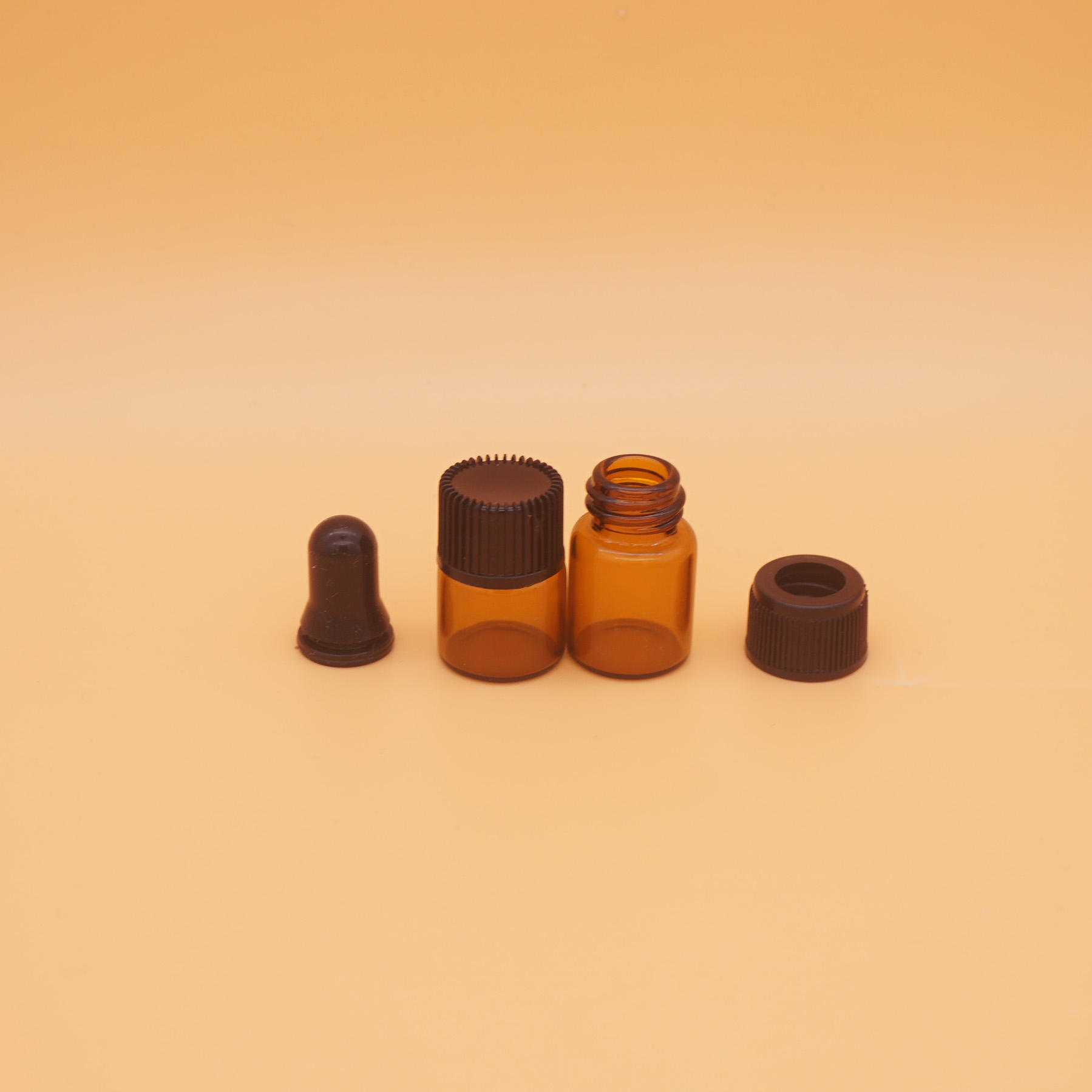 5ml amber sample frosted kleine 0.5ml glazen flacon