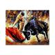 CHENISTORY DZ993086 abstract Bullfight diy canvas painting by numbers for adults Acrylic Pigment paint by number Arts Craft