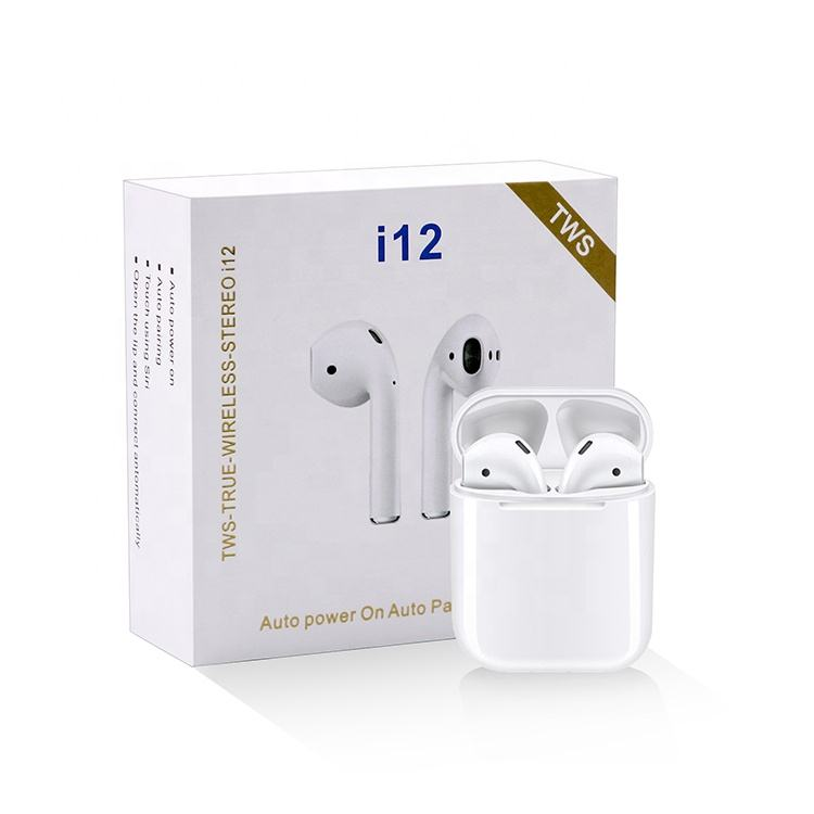 Trulyplus Newest Products Pods i12 TWS Earbuds V5.0 Stereo Mini Wireless Ear Buds Blue tooth Earphone wholesale