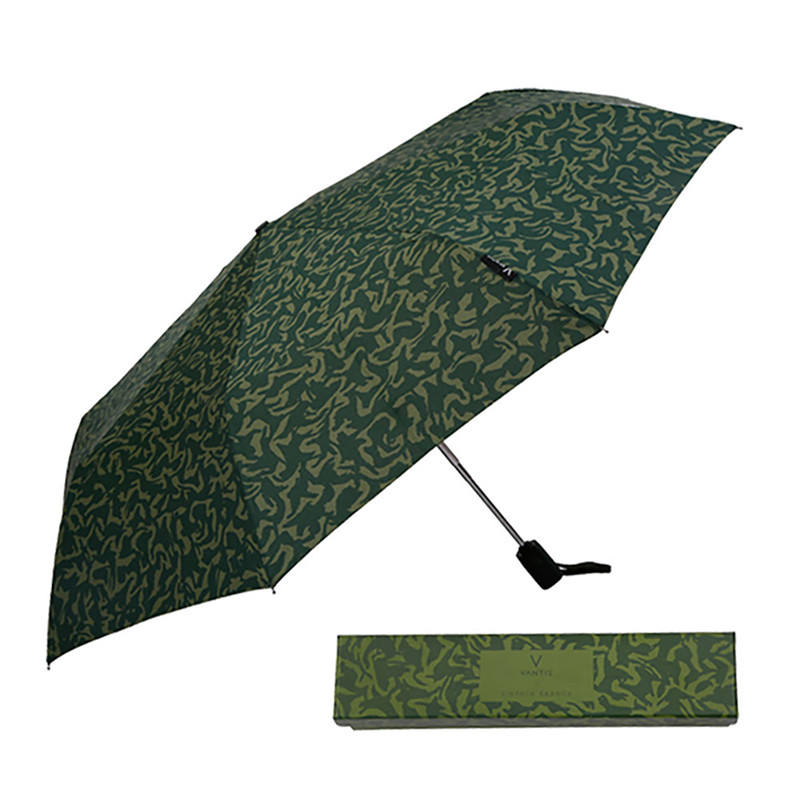 High Class Gift Portable Comfortable Handle Folding Umbrella with Fabric Cover or Box