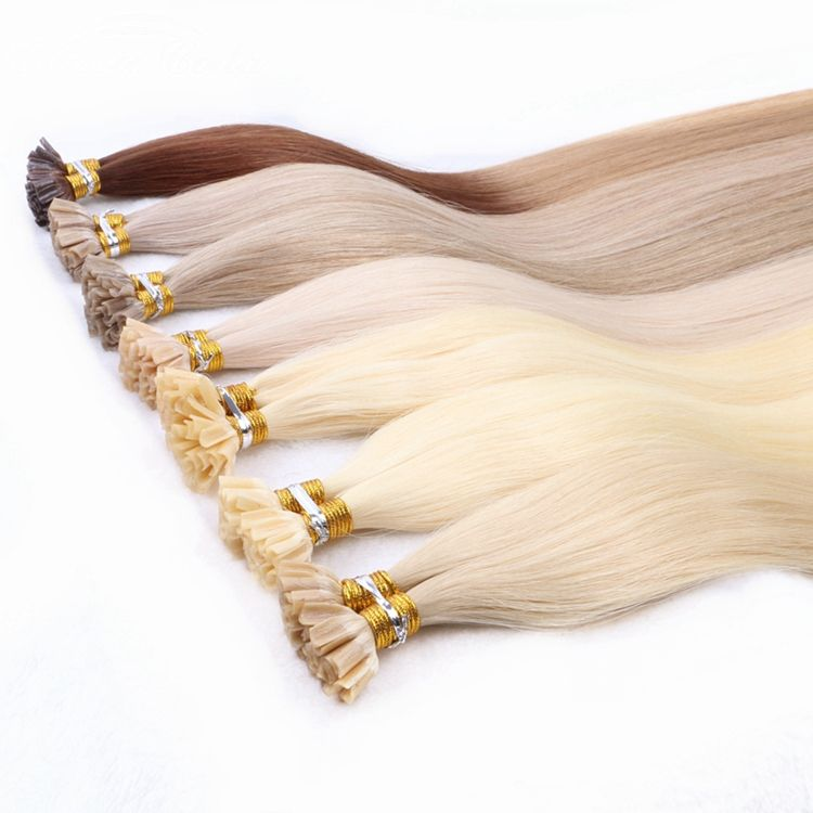 HARMONY 50g 22inch 1g/pc Full cuticle aligned virgin remy 100% human hair extensions Italian keratin glue bond u tip hair