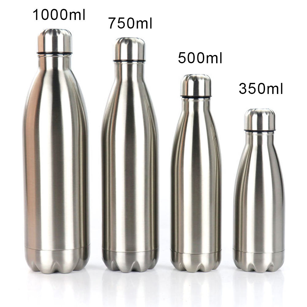 Flask Aluminium Double Wall Insulated Floral Stainless Steels Sport Coca Bottle Cola Vacuum Cola Shaped Soft Drinks Water Bottle
