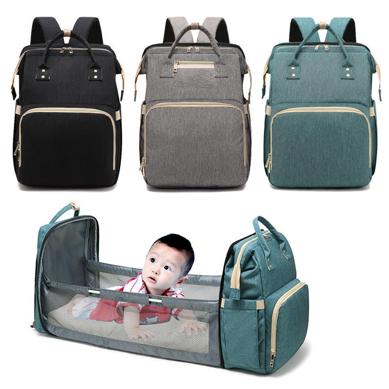 Multifunctional Custom Waterproof Travel Mom Back Pack Nappy Changing Bag Fashion Mummy Diaper Backpack Baby Diaper Mummy Bag