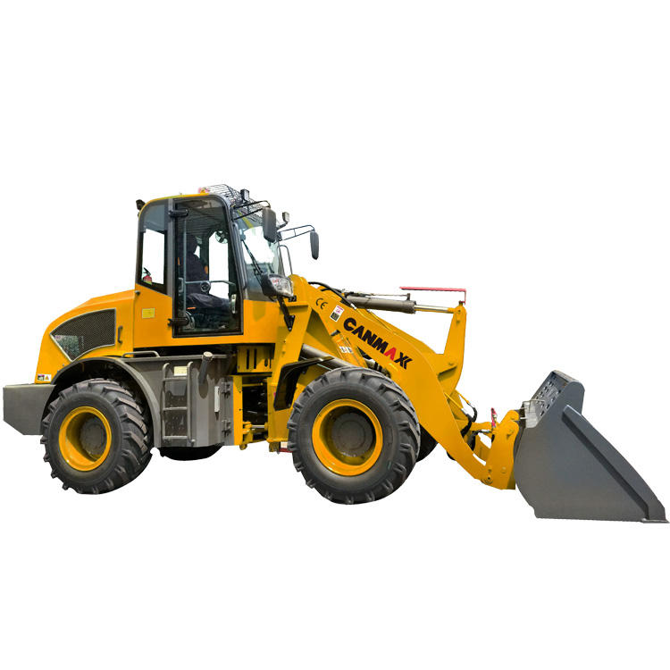 China made 2500kg used small wheel loader CM925 with attachment sweeper low price for sale