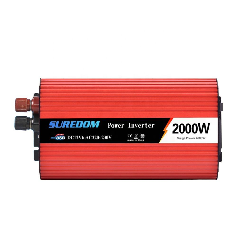 Hot sales inverter 2000 watt power inverter dc ac 12v 24v 48v 110v 120v 220v 230v 240v modified sine wave