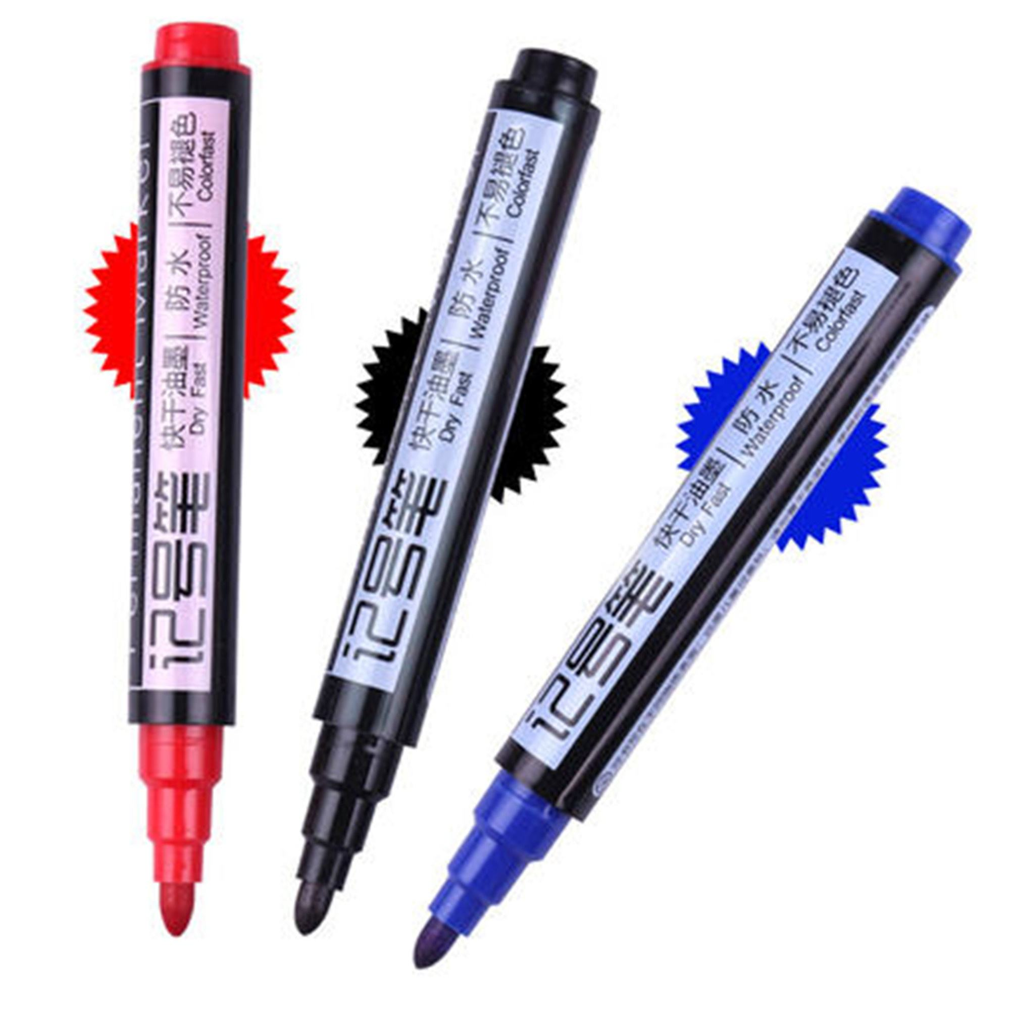 Permanent oil-ink Marker pens for school stationery & office (HX-6821) three choice for colors