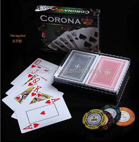 Двойная палуба 100 пластиковые игральные карты royal Водонепроницаемый Пластиковые ПВХ игральные карты