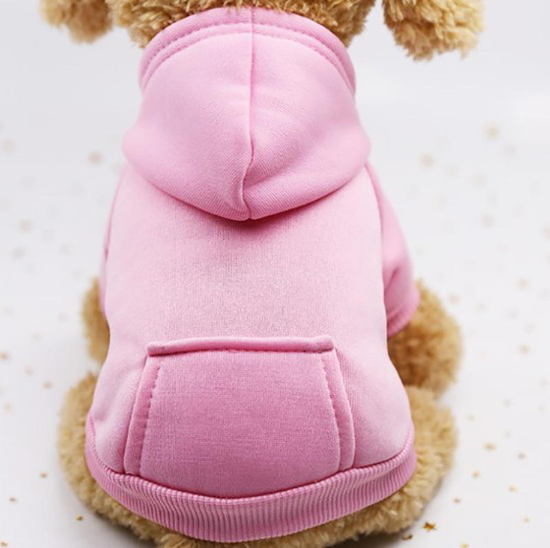 New Arrival Fashionable Cotton Solid Color Teddy Sports Hoodie Dogs Jacket Coat Apparel Pet Cloth//