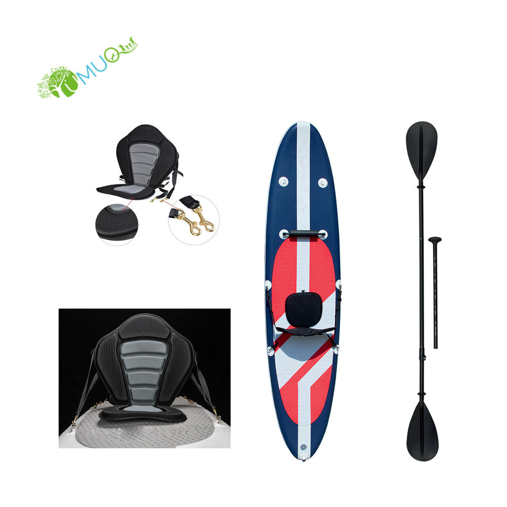 "YumuQ All Around Universal 10'6"" Inflatable Surf Sup Fishing Standup Stand Up Paddle Board with Removable Kayak Seat"