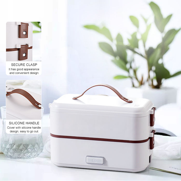 20 Minutes to cook rice double 0.8L heating lunch box