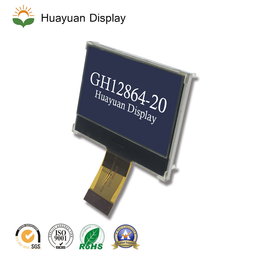 lcd 128x64 2.0 inch, cog 128x64 lcd module with FPC, COG LCM 128X64 graphic monochome display LCD