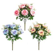 Classic Style peony bunch*12 artificial rose flower for wedding home decor indoor decoration handmade flowers artificial flowers