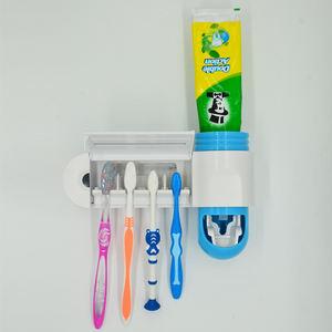 UV Toothbrush Sterilizer Wall HolderBattery OperatedToothpaste Dispenser