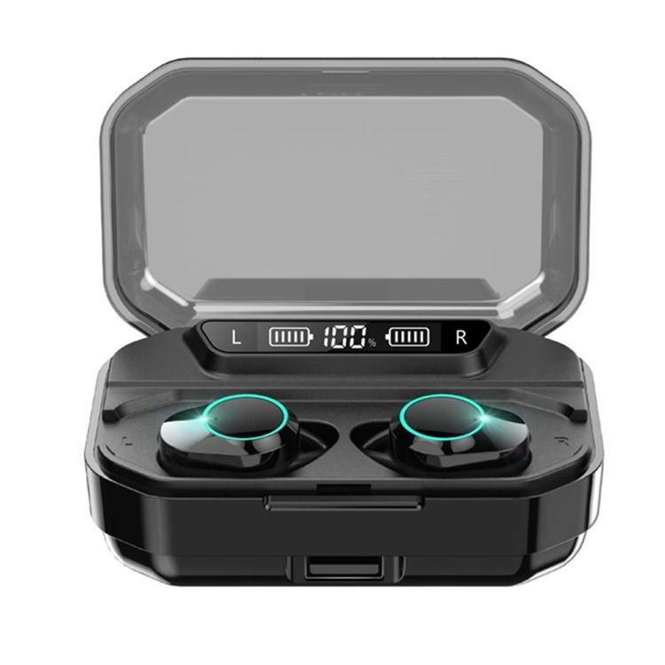 Waterproof 5.0 Wireless Earbuds G02 with Wireless Charging Case Type-C Port Binaural Stereo Earbuds with Mic and Volume Control