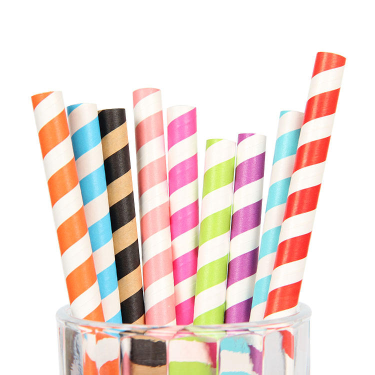 Popular Cute Promotional biodegradable paper straw making machine party paper strawpaper straw for drinking