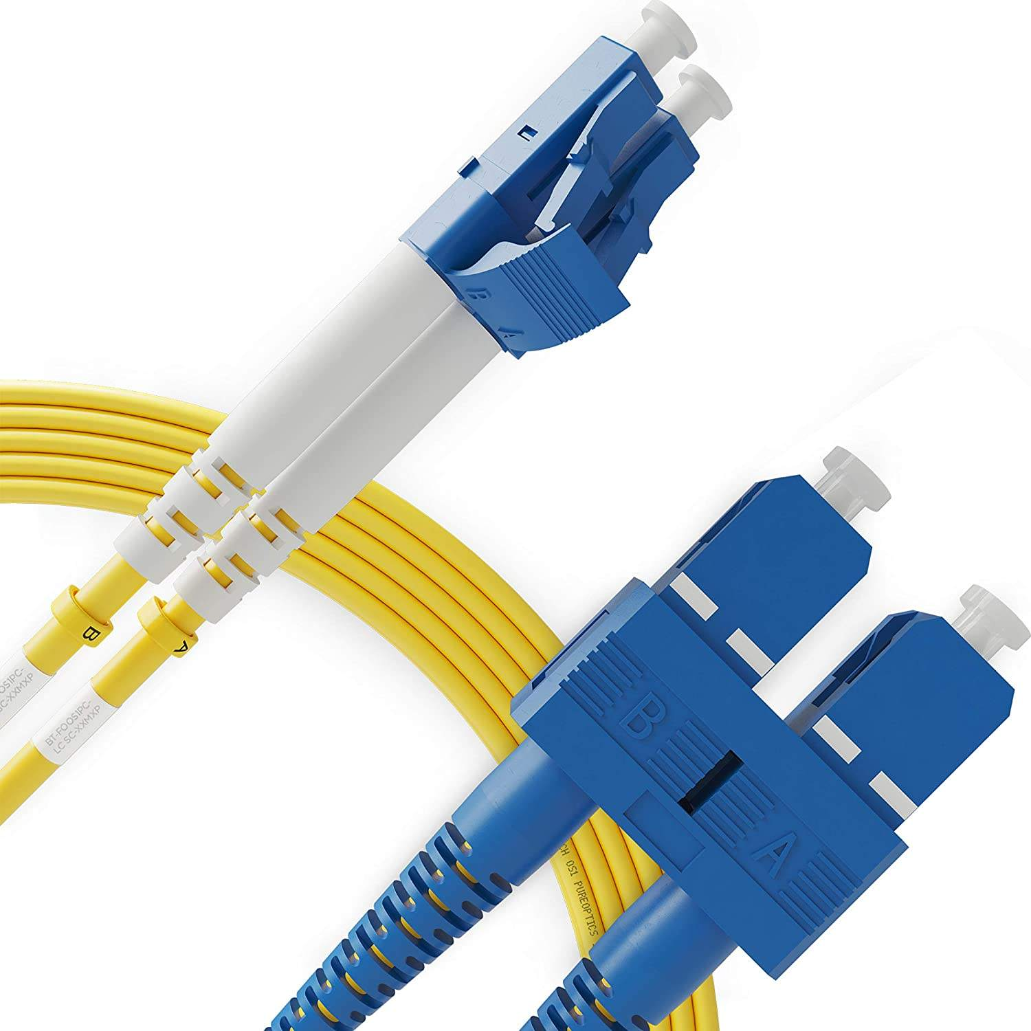 LC to SC 9/125 SM Single mode Duplex fiber optic patch cord UPC 10ft 3.0mm FTTH fiber optic jumper