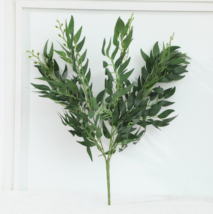 52センチメートルNew Fashionable Artificial Faux Greenery Willow Tree Leaves BranchためIndoorとOutdoor Decoration