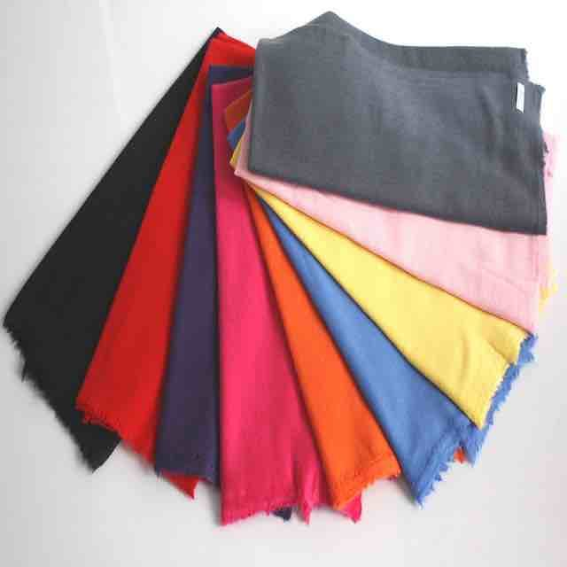Sustainable Cashmere Scarf Shawl Scarves Wrap Colorful Solid Colors 1ply 70x200 Unisex Winter Men Woman Nepal Cashmere Scarf
