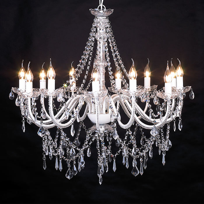 Best New Model 8 Lights Hotel Decorative Chain Hanging Crystal Chandeliers NS-120125-8