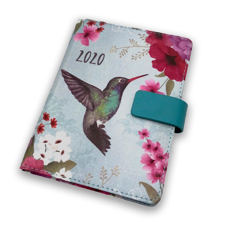 silk cloth cover personalized 2020 diary notebook with custom daily printing