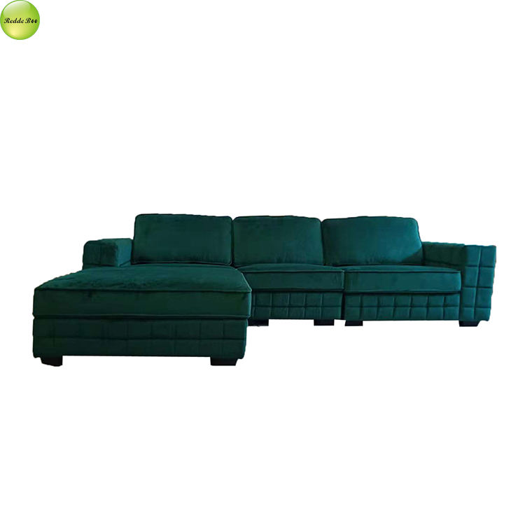 New design sofa L shape luxurious & elegant modern fabric living room sofa with ottoman 6261
