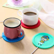 New Hot Cute Cartoon Silicone Mike Coffee Cup Heating Pad Beverage Rack Tableware Placemat Electric USB Warmer