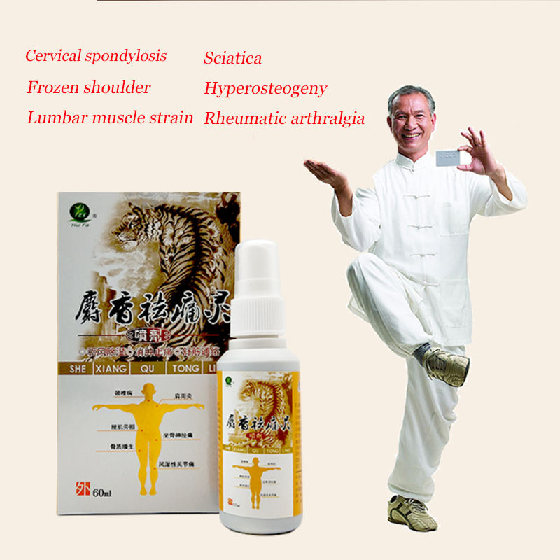 60ml Chinese Medicine Pain Relief Spray Rapid Relief From Rheumatic Rheumatoid Arthritis Joint Pain Muscle Pain Bruises Swelling