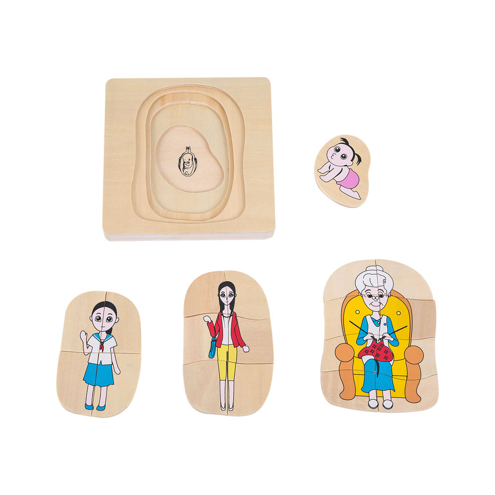 hot amazon yunhe wooden baby learning toys montessori preschool Development of Woman