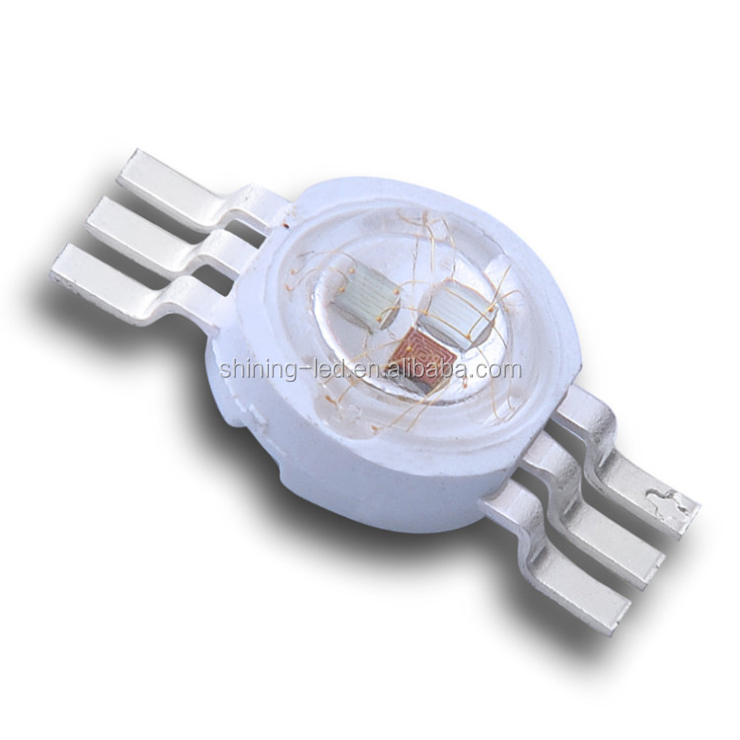 PLCC-6 625nm 525nm 465nm 3 in1 High Bright 3W Power RGB LED chip for Stage Lamp